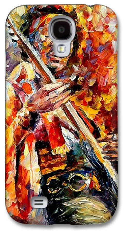 Music Galaxy S4 Case featuring the painting Jimi Hendrix by Leonid Afremov
