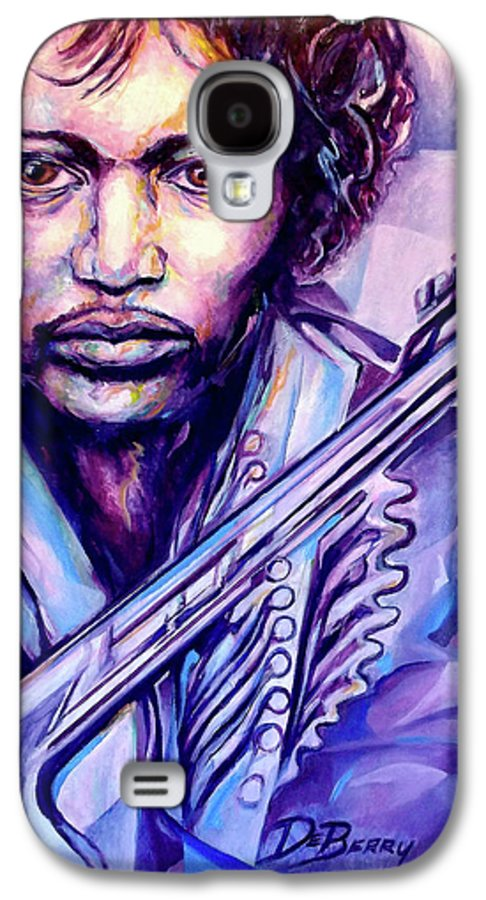 Galaxy S4 Case featuring the painting Jimi by Lloyd DeBerry