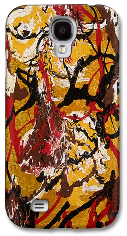 Abstract Art Galaxy S4 Case featuring the painting Joe Sweet by Jill English