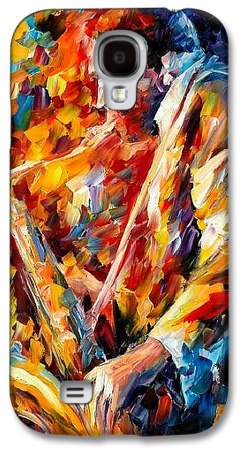 Music Galaxy S4 Case featuring the painting John Coltrane by Leonid Afremov