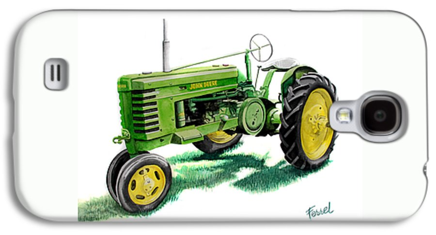 John Deere Tractor Galaxy S4 Case featuring the painting John Deere Tractor by Ferrel Cordle