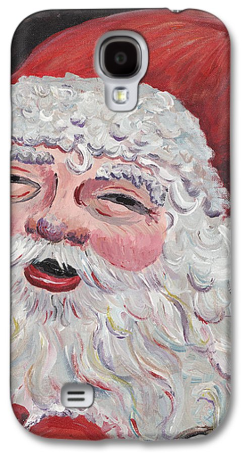 Santa Galaxy S4 Case featuring the painting Jolly Santa by Nadine Rippelmeyer