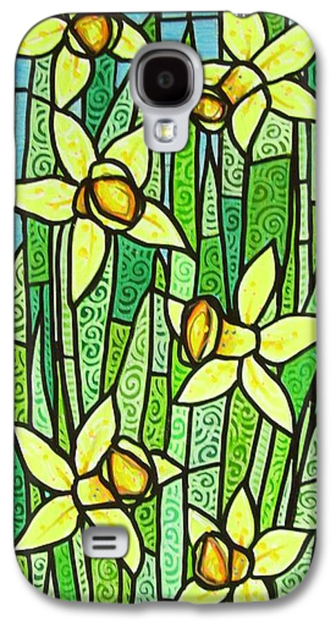 Jonquils Galaxy S4 Case featuring the painting Jonquil Glory by Jim Harris