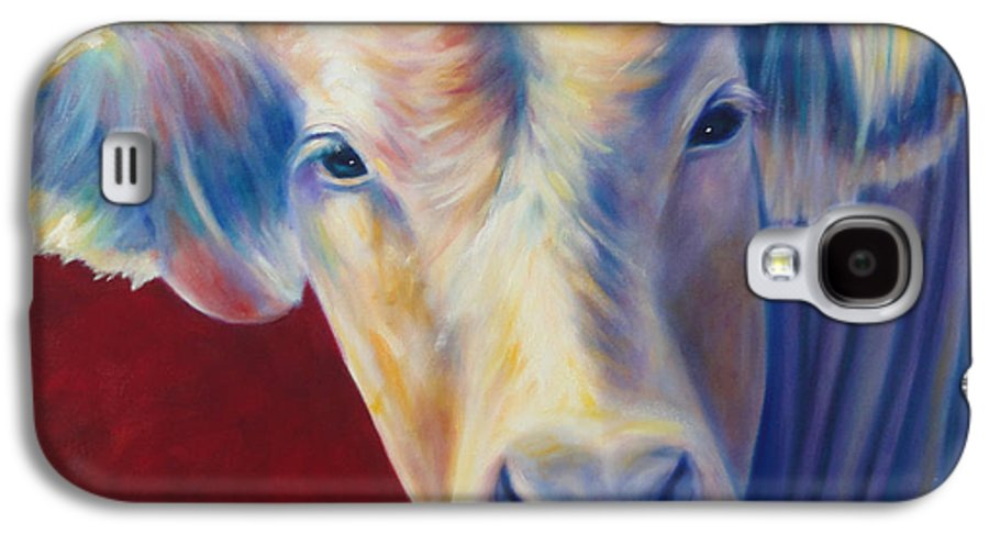 Bull Galaxy S4 Case featuring the painting Jorge by Shannon Grissom