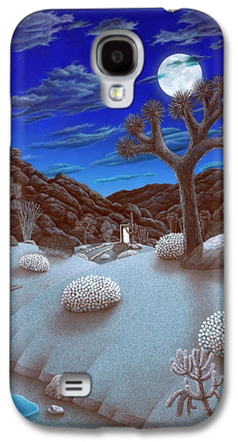 Landscape Galaxy S4 Case featuring the painting Joshua Tree At Night by Snake Jagger