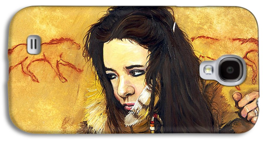 Southwest Art Galaxy S4 Case featuring the painting Journey by J W Baker