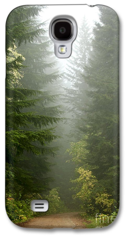Forest Galaxy S4 Case featuring the photograph Journey Through The Fog by Idaho Scenic Images Linda Lantzy
