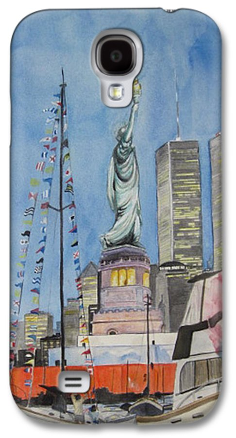 4th Of July Galaxy S4 Case featuring the painting July 4th by Judy Riggenbach
