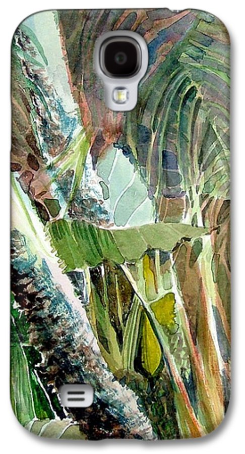 Palm Tree Galaxy S4 Case featuring the painting Jungle Light by Mindy Newman
