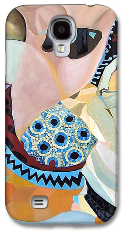 Figyrative Galaxy S4 Case featuring the painting Jurney by Antoaneta Melnikova- Hillman