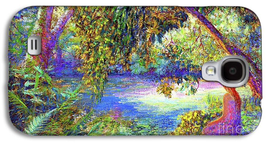 Woodland Galaxy S4 Case featuring the painting Just Be by Jane Small