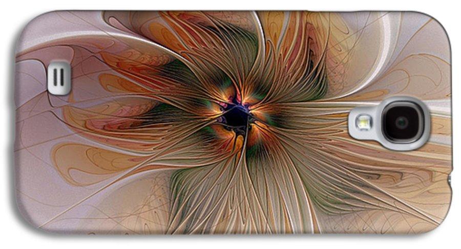 Digital Art Galaxy S4 Case featuring the digital art Just Peachy by Amanda Moore