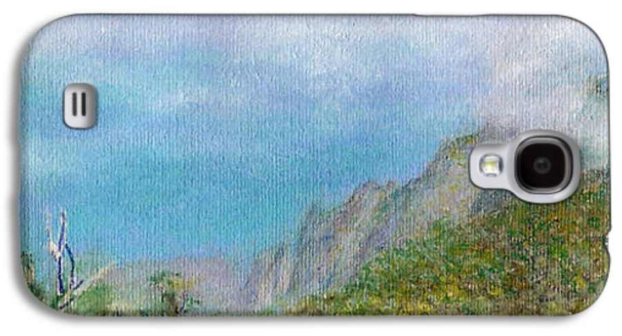 Rainbow Colors Pastel Galaxy S4 Case featuring the painting Kalalau Mist by Kenneth Grzesik