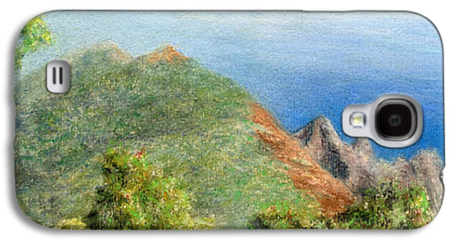 Rainbow Colors Pastel Galaxy S4 Case featuring the painting Kalalau View by Kenneth Grzesik