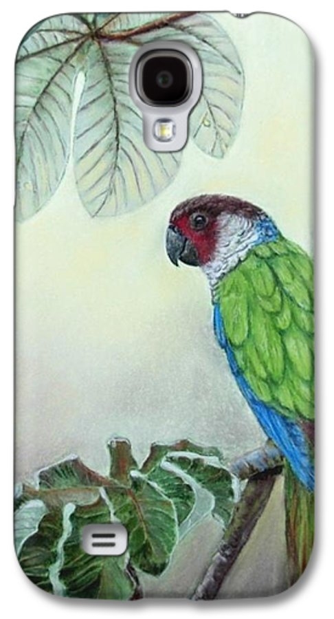Wildlife Galaxy S4 Case featuring the painting Kasanga Bajo El Guarumo by Ceci Watson