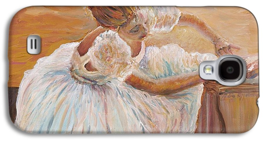 Dancer Galaxy S4 Case featuring the painting Kaylea by Nadine Rippelmeyer