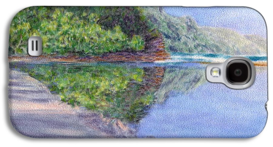 Rainbow Colors Pastel Galaxy S4 Case featuring the painting Ke' E Beach In May by Kenneth Grzesik