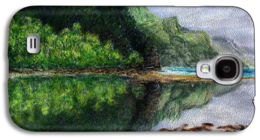 Rainbow Colors Pastel Galaxy S4 Case featuring the painting Ke'e by Kenneth Grzesik