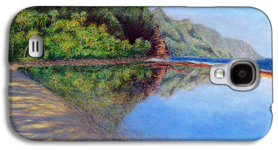 Rainbow Colors Pastel Galaxy S4 Case featuring the painting Ke'e Morning by Kenneth Grzesik