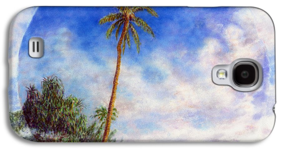 Rainbow Colors Pastel Galaxy S4 Case featuring the painting Ke'e Palm by Kenneth Grzesik