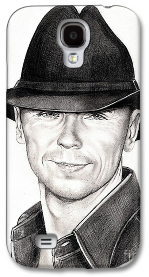 Portrait Galaxy S4 Case featuring the drawing Kenny Chesney by Murphy Elliott