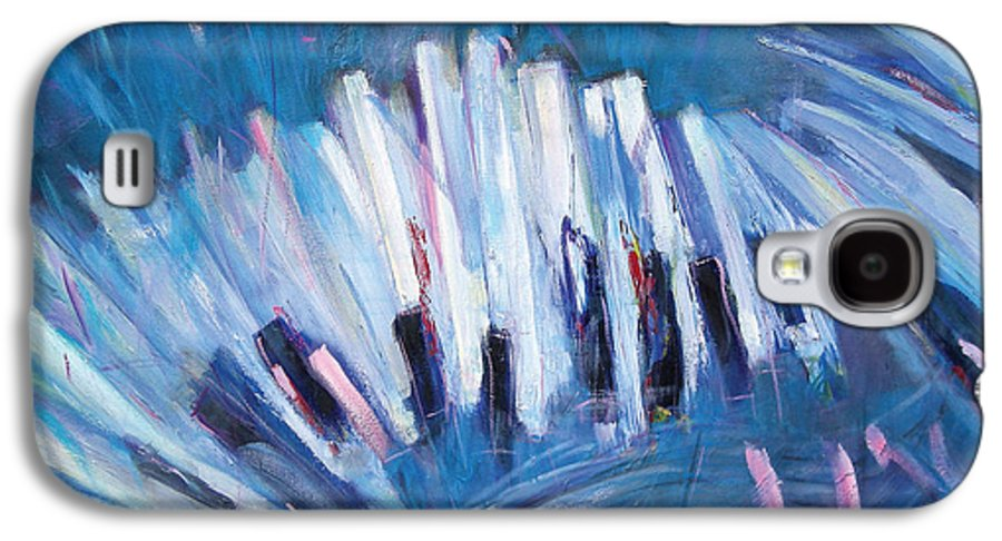 Piano Galaxy S4 Case featuring the painting Keys by Jude Lobe