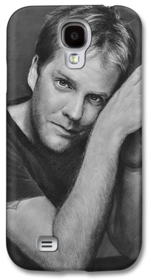 Portraits Galaxy S4 Case featuring the drawing Kiefer Sutherland by Iliyan Bozhanov