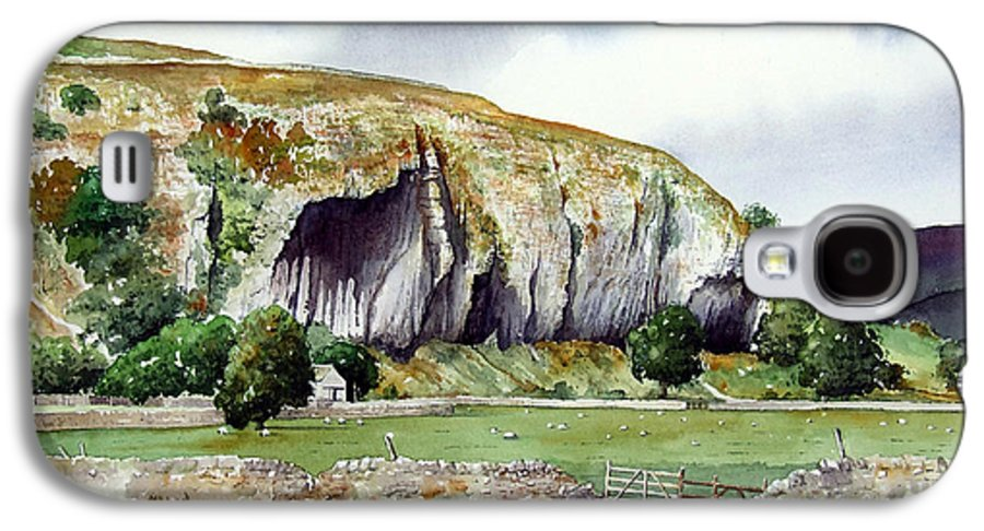 Landscape Galaxy S4 Case featuring the painting Kilnsey Crag by Paul Dene Marlor
