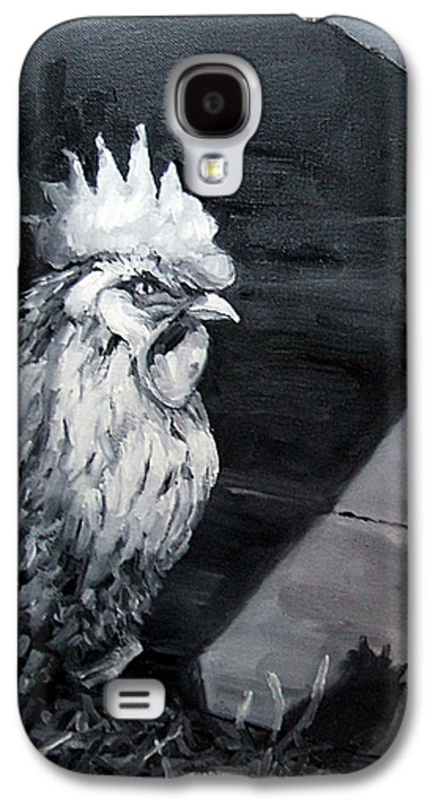 Animal Galaxy S4 Case featuring the painting King Of The Roost by Diane Kraudelt