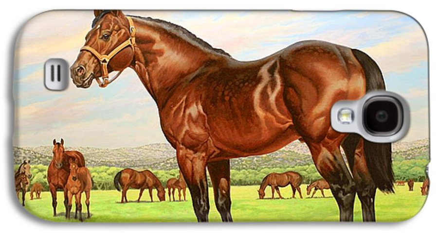Quarter Horse Galaxy S4 Case featuring the painting King P-234 No.two by Howard Dubois