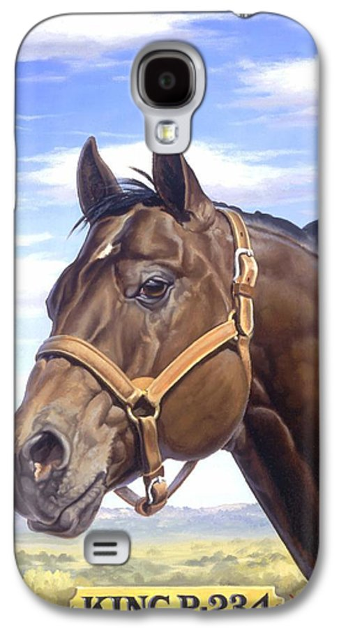Quarter Horse Galaxy S4 Case featuring the painting King P234 by Howard Dubois