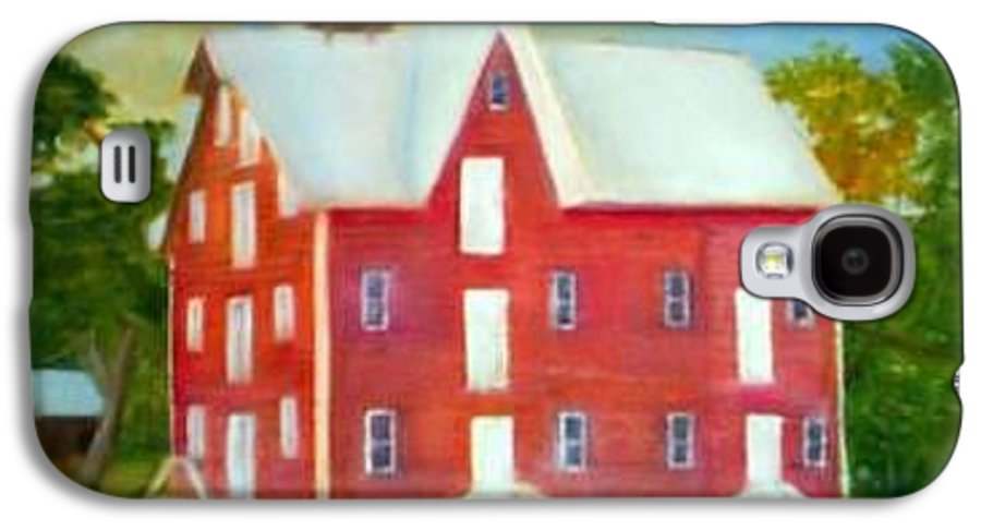Kirby Mill Galaxy S4 Case featuring the painting Kirby's Mil by Sheila Mashaw