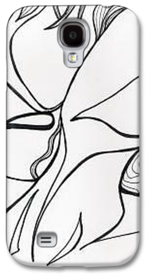 Kiss Vi Galaxy S4 Case featuring the drawing Kiss Vi by Loretta Nash