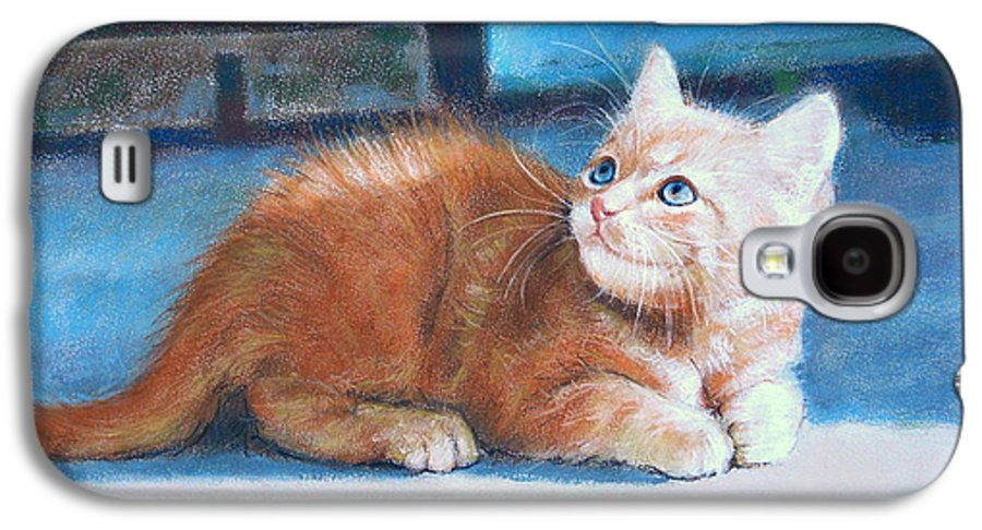 Cats Galaxy S4 Case featuring the painting Kitten by Iliyan Bozhanov