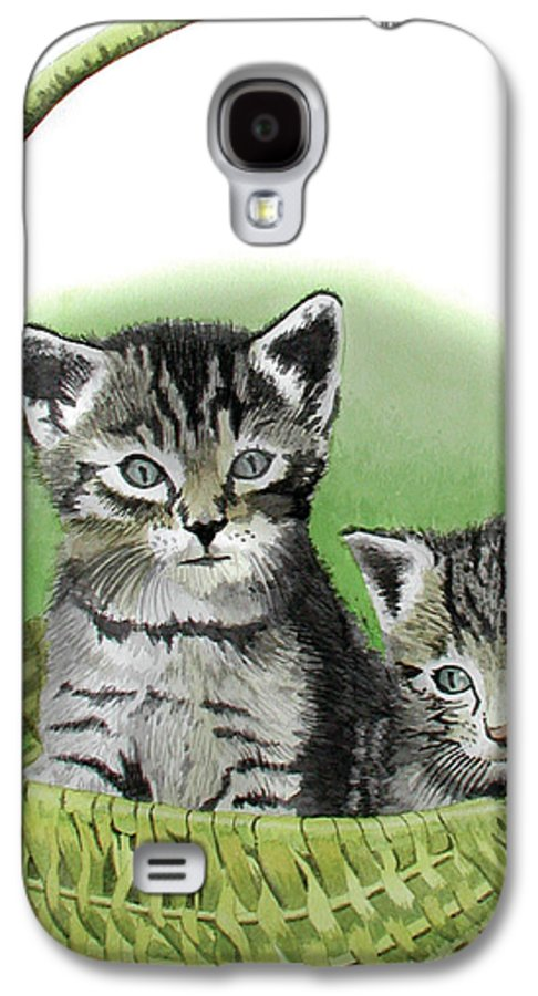 Cat Galaxy S4 Case featuring the painting Kitty Caddy by Ferrel Cordle