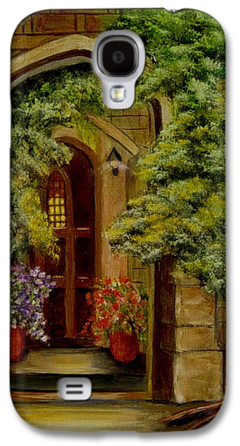 Door Galaxy S4 Case featuring the painting Knight's Door by Quwatha Valentine