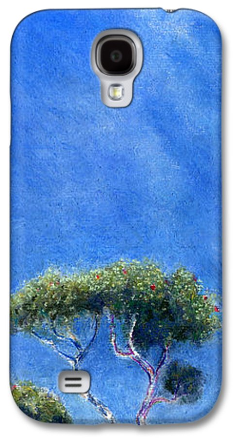Rainbow Colors Pastel Galaxy S4 Case featuring the painting Kokee Trees by Kenneth Grzesik