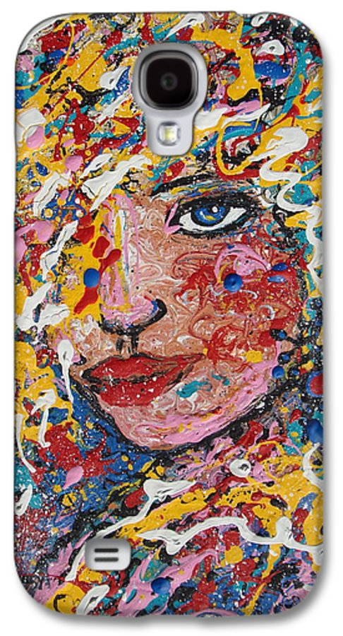 Woman Galaxy S4 Case featuring the painting Kuziana by Natalie Holland
