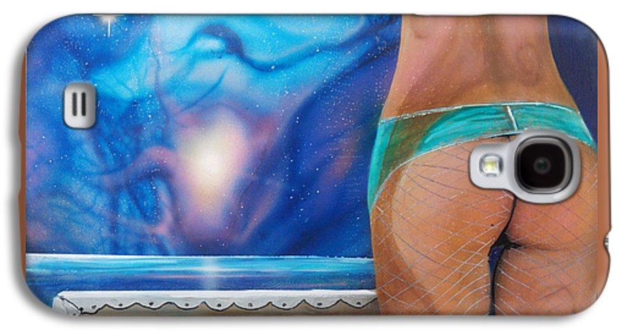 Nebula Caribe Galaxy S4 Case featuring the painting La Bailarina by Angel Ortiz