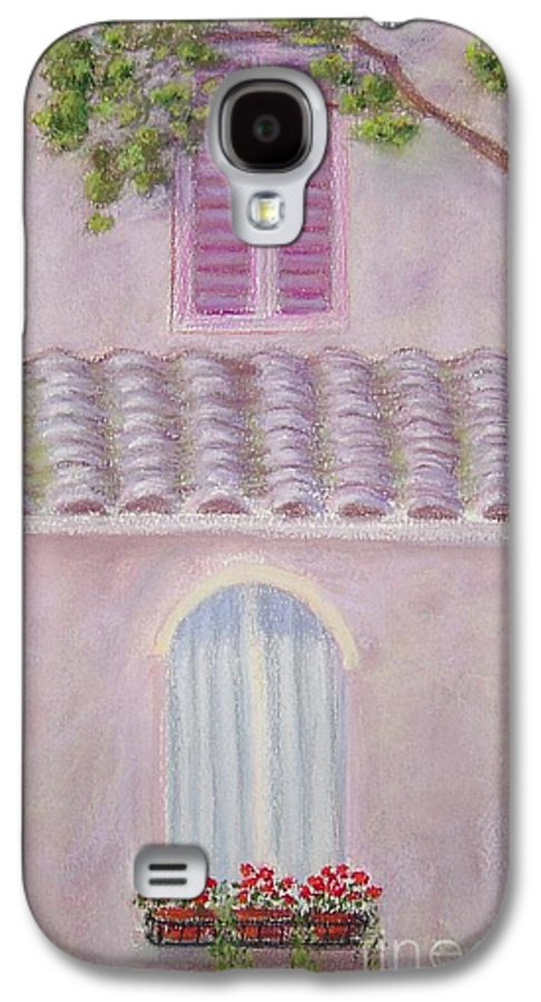 Window Boxes Galaxy S4 Case featuring the painting La Casa Rosa Lunga Il Treve by Mary Erbert
