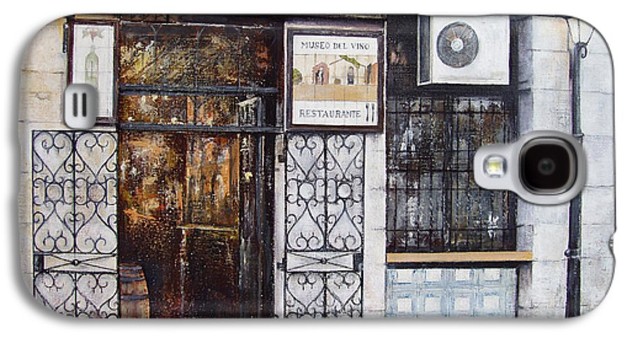 Bodega Galaxy S4 Case featuring the painting La Cigalena Old Restaurant by Tomas Castano