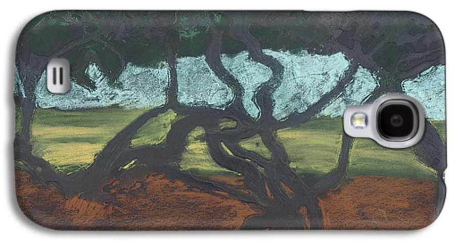 Contemporary Tree Landscape Galaxy S4 Case featuring the mixed media La Jolla II by Leah Tomaino