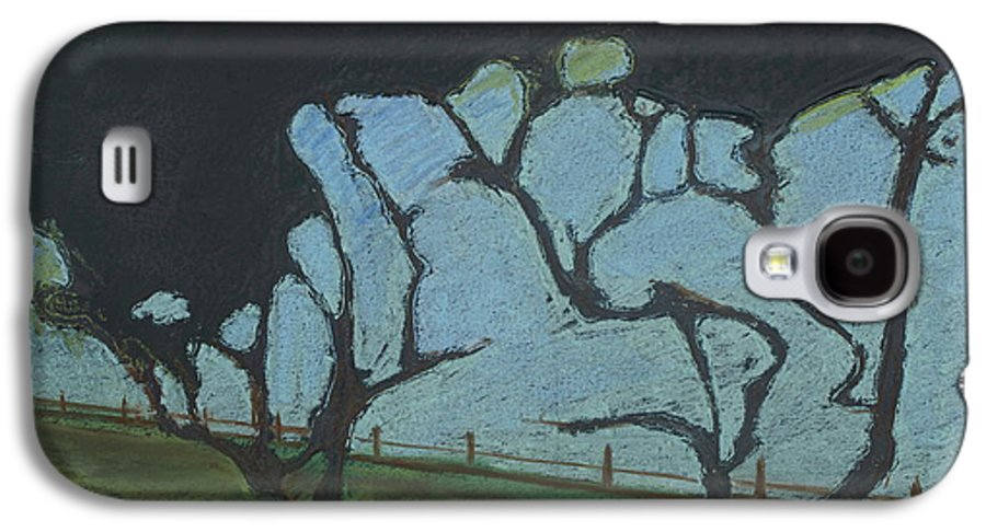 Contemporary Tree Landscape Galaxy S4 Case featuring the mixed media La Jolla IIi by Leah Tomaino