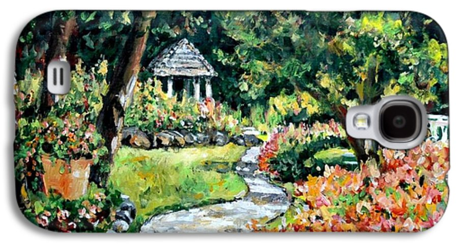 Landscape Galaxy S4 Case featuring the painting La Paloma Gardens by Alexandra Maria Ethlyn Cheshire