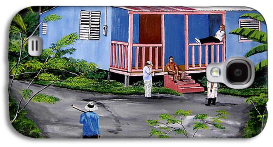 Campo Galaxy S4 Case featuring the painting La Vida En Las Montanas De Moca by Luis F Rodriguez