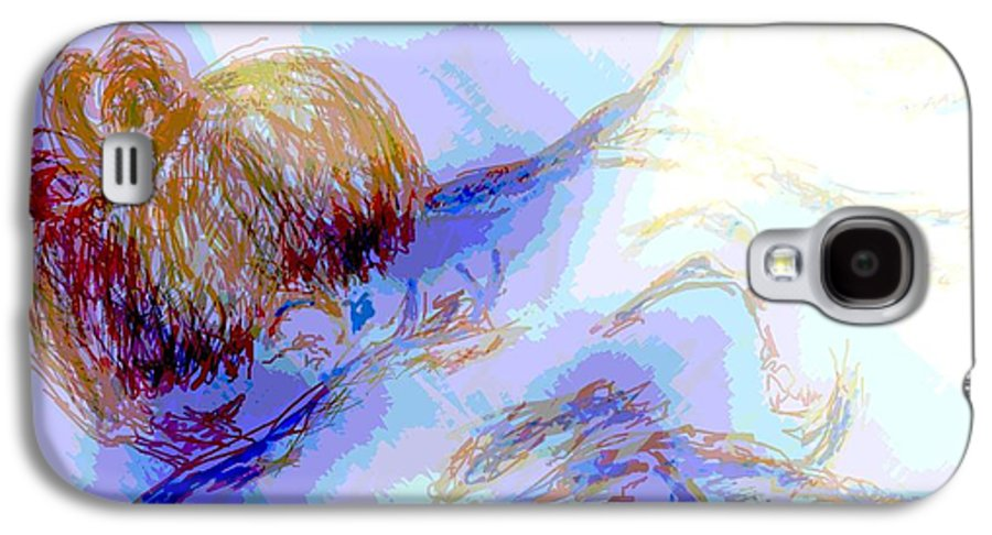 Lady Galaxy S4 Case featuring the digital art Lady Crying by Shelley Jones