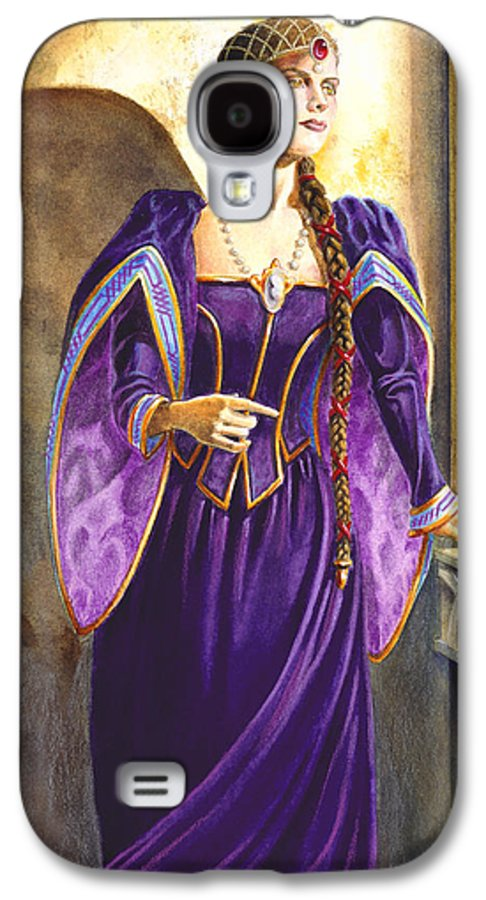 Camelot Galaxy S4 Case featuring the painting Lady Ettard by Melissa A Benson