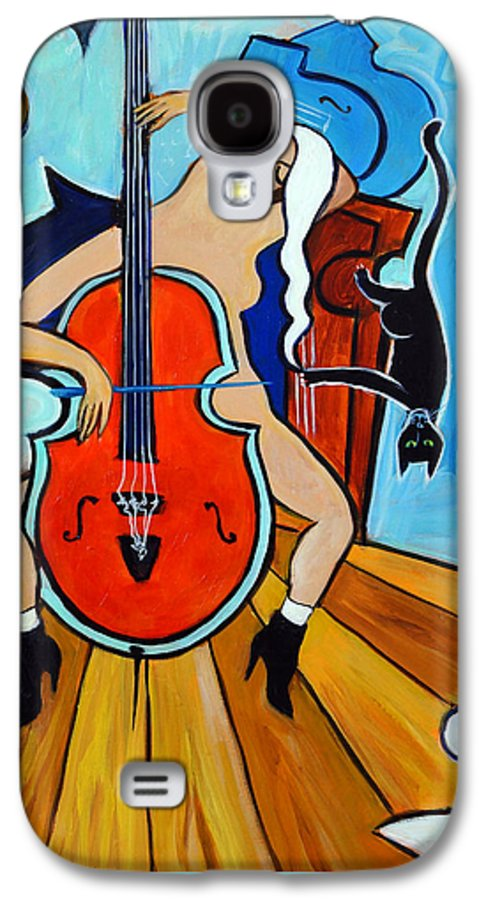 Musicians Galaxy S4 Case featuring the painting Lady In Red by Valerie Vescovi
