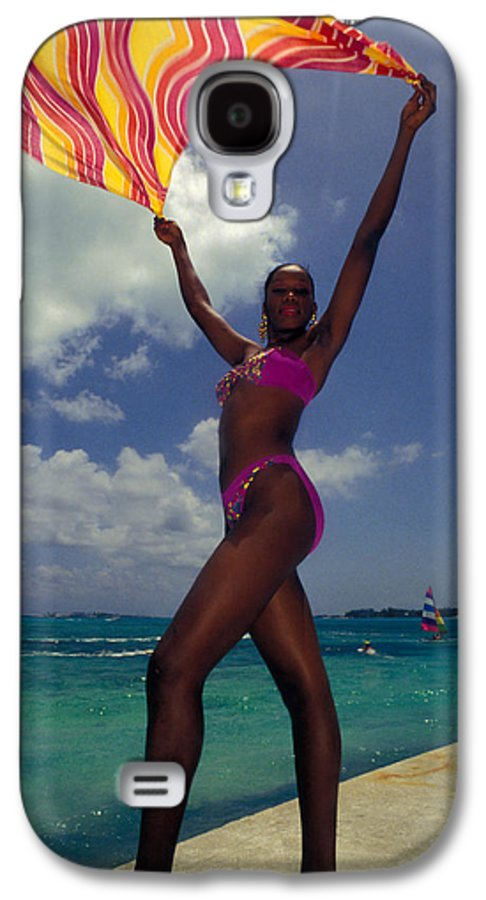 Black Galaxy S4 Case featuring the photograph Lady In The Wind by Carl Purcell