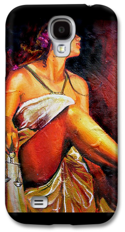 Law Art Galaxy S4 Case featuring the painting Lady Justice Mini by Laura Pierre-Louis